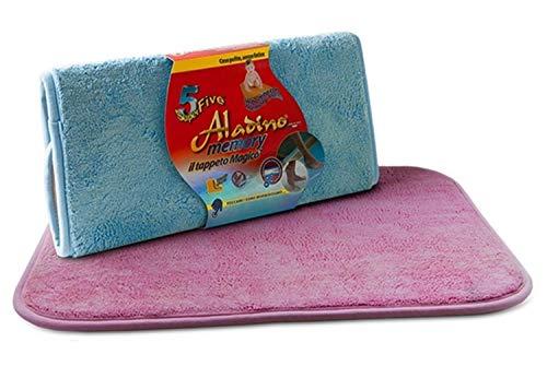 Aladino - Alfombra de secado rectangular de microfibra vulcanizada, 50 x 68 cm