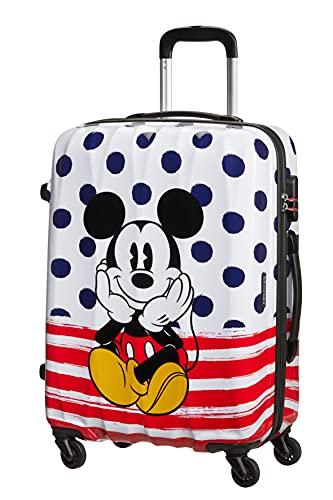 American Tourister Disney Legends Spinner 65 Alfatwist - Maleta infantil (65 cm), Mickey Blue Dots (Multicolor) - 19C*71007
