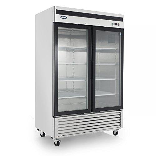 Armoire réfrigérée 1300 Litres - Négative vitrée - Atosa - R290 2 Portes Vitrée