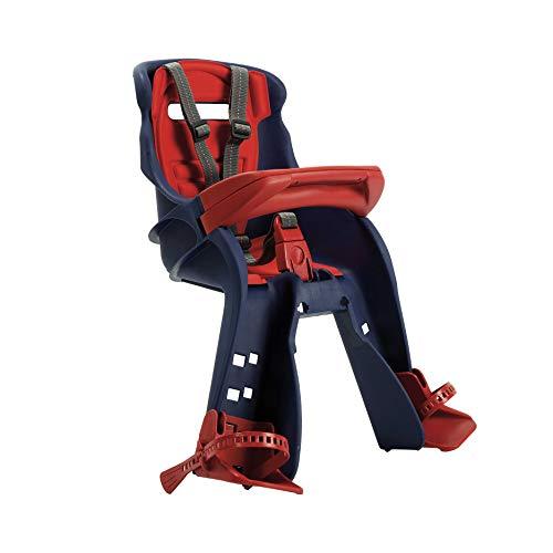 OKBABY Orion - Seggiolino Anteriore per Bambini, Sicurezza in Bicicletta dai 7/8 Mesi (15 kg) - Blu e Rosso