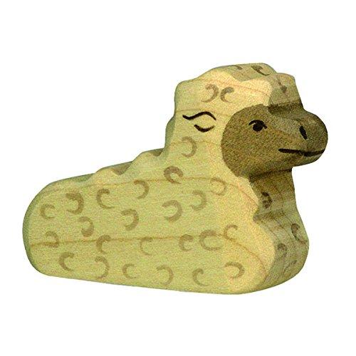Holztiger Lamm, liegend, 80077