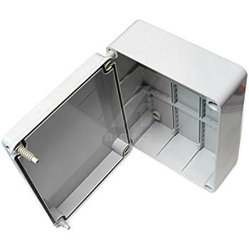 Caja de conexiones, 300 x 220 x 120 mm, carcasa impermeable adaptable IP56 PVC exterior con tornillos: Amazon.es: Bricolaje y herramientas