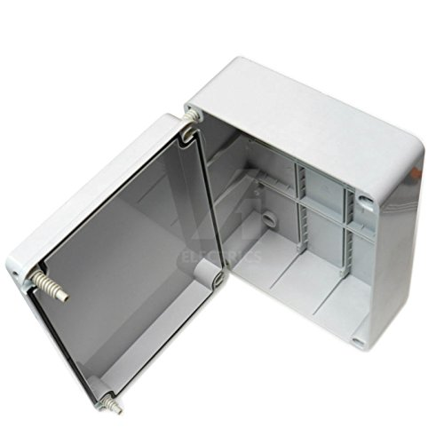 Caja de conexiones, 300x 220x 120mm, carcasa impermeable adaptable IP56PVC exterior con tornillos