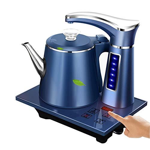 SYXZ 0,8 l elektrischer vollautomatischer Wasserkocher Teekanne Set Edelstahl Sicherheit Auto-Off Wasserspender Samovar Pumping Herd,Blau