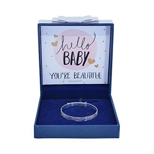 Sincerelyforyou Baby-Armreif für Mädchen, Sterling-Silber 925, verstellbar, für den ersten Geburtstag, Schmuck, Andenken, Taufe, Weihnachten, Neugeborene