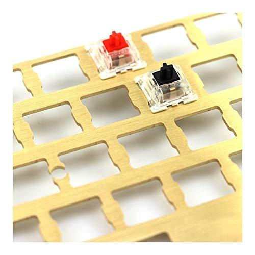 Linqingshiduodeshangmaoyouxiangongsi PCB Mecánica del Teclado 60 Latón Diseño de la Placa de posicionamiento Soporta GH60 Pwb Soporte de la Placa de Circuito Impreso (Colore : Add Stab Set)