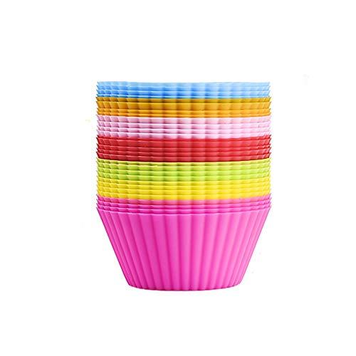CMAKOKL 7 kleuren siliconen voor het bakken van glazen, herbruikbare muffin-bakvormen, bakplaat, bakvorm