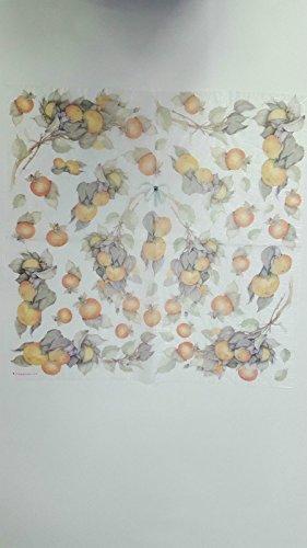 Tovagliolo in carta di riso 50×50 cm 14g Decoupage DFT065 Frutta