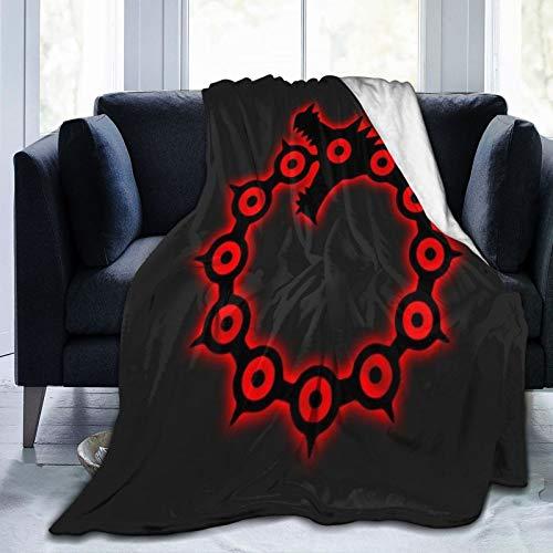 Anime & Box Logo Nanatsu No Taizai Seven Deadly Sins Escanor Throw Blankets Cozy Lightweight Decorative Blanket for Women Men and Kids