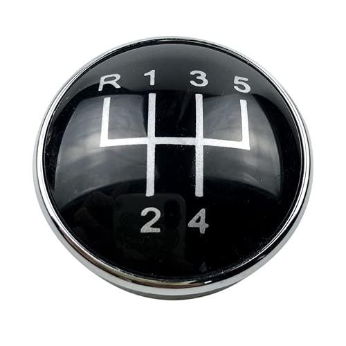 Tonyzhou Co.,ltd Cubierta de la Tapa del Emblema de la Perilla de Cambio de Marchas del Coche, para Audi A3 S3 8L A4 S4 B6 B7 A6 C6 para VW Passat B5 3BG B6 B7 CC 3C Golf 4 MK4 Bora