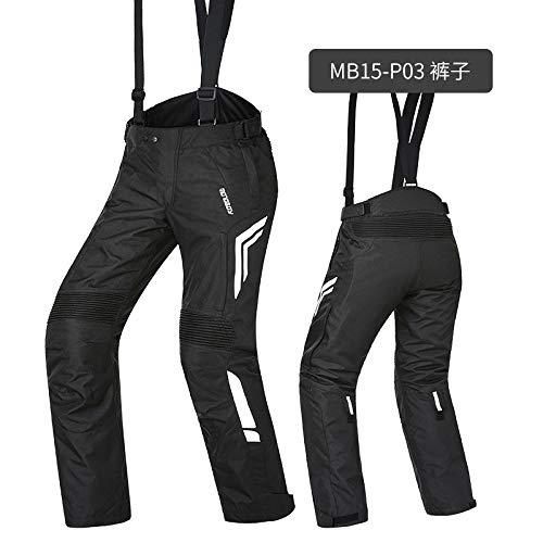 ETbotu motorkleding, motorkleding, loopkleding, warm, paardrijbroek, onvormbare overall, zwart P03 XXXL