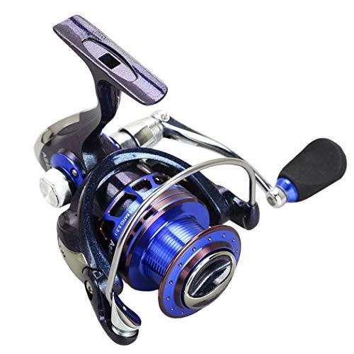 JUNBOSI Fishing Reel blauw Spinning Zout Spinning Reel Karper Pike Zalm Forel Grove Match Game,Blauw, 4000