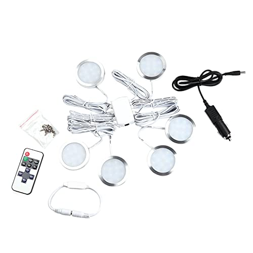 Funien Focos LED,Paquete de 6 focos LED para Interiores, 12 V, LED...