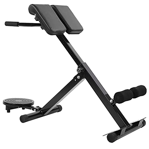 EBTOOLS Silla romana ajustable, multifuncional Hyper Dumbbell Bench Core Trainer plegable Banco...