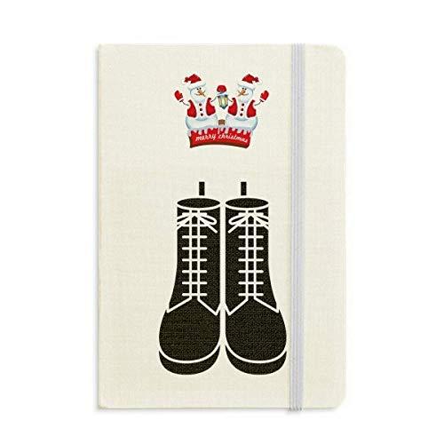 Stivali alti da uomo nero modello Silhouette Natale pupazzo di neve Notebook spessa copertina rigida