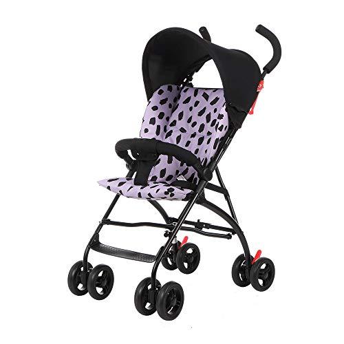 Landau Chariot Multifonctionnel bébé Poussette légère Amortisseur Parapluie Chariot bébé Portable Voyage Baby Doll Trolley ( Color : Purple )