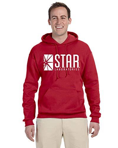 Star Laboratories S.T.A.R. Labs Hoodie Sweat Shirt Medium Red