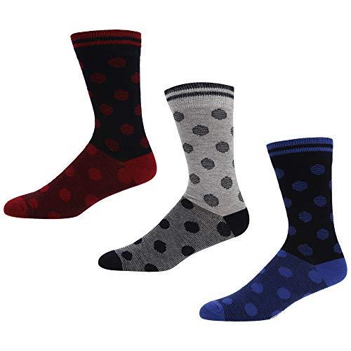 Ben Sherman Herren Socken Mehrfarbig Mehrfarbig (Grey/Blue Navy/Red Navy/Blue Spots 3PKA)