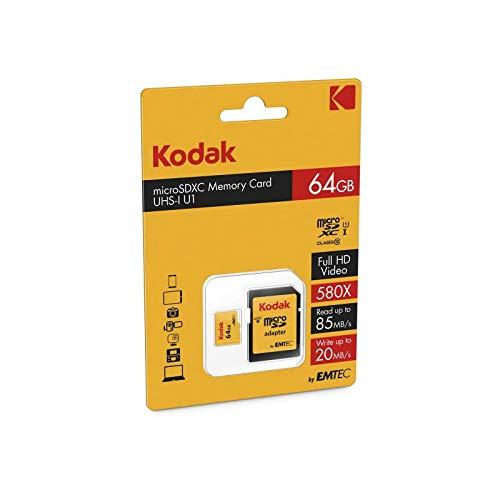 Kodak 64GB Class 10 UHS-I U1 microSDHC Card with Adapter