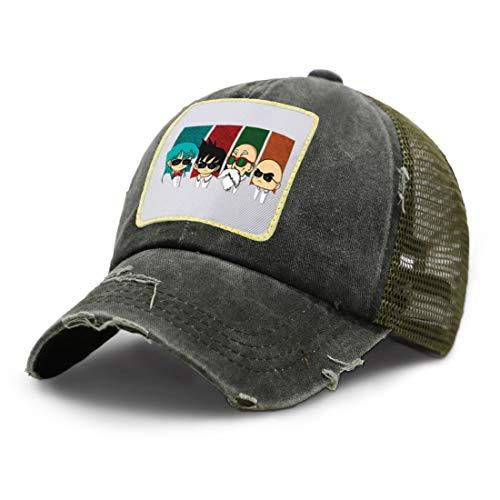 JXWH Cartoon print hat summer sunscreen adjustable size baseball mesh hat fashion unisex breathable trucker hat 51-57