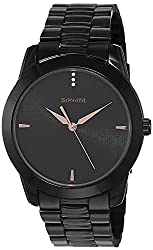 Sonata Analog Black Dial Men's Watch NM7924NM01 / NL7924NL01,Sonata,NM7924NM01 / NL7924NL01