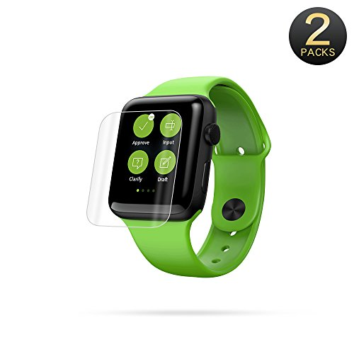 T-CORE Screen Protector Compatible for Apple Watch 38mm Series 3/Series 2/Series 1[2-Pack] Anti-Scratch, Bubble Free Screen Protector Ultra HD Clear Screen Protector Film