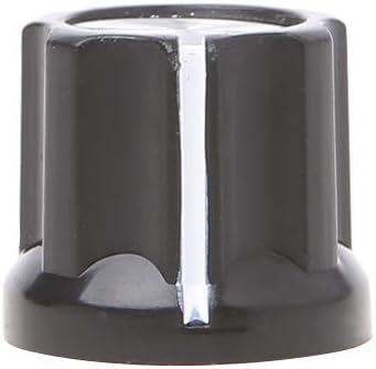 1 pieza de botón 180°D-Shaft media luna agujero guitarra AMP ciruela forma tapa de aluminio