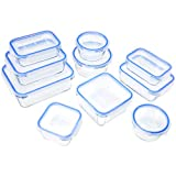 AmazonBasics Glass Locking Food Storage Containers (20 Piece)