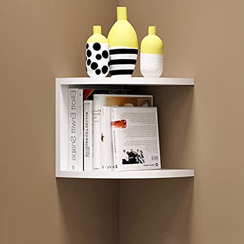 B&L Eckregal Holz schwimmende Regale Multi-Tier schwimmende Wandregal mit Zickzack-Design Regale Lagerung und Display für Schlafzimmer, Wohnzimmer, Küche, (20cm)