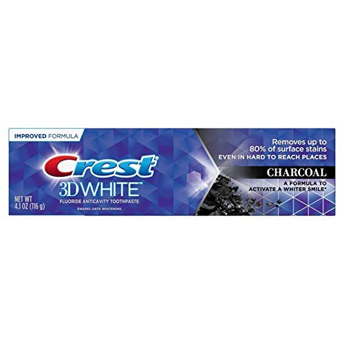 Crest 3D White Toothpaste CHARCOAL 4.1 Ounce (116g)