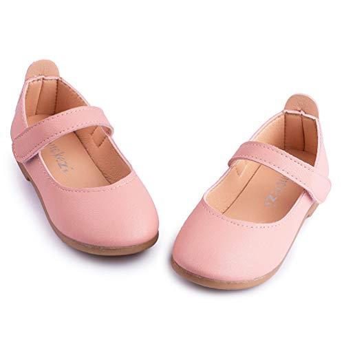 Meckior Toddler Baby Kids Girl's Mary Jane Ballerina Flat Slip On Princess Dress Dance Party Sparkle Wedding Ballet School Uniform Toddler Girl Church Shoes