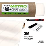 Metro Restyling 3M 2080 Satin Car Wrap Vinyl Film W Felt Edge Squeegee Retractable Knife Blade Kit (5ft x 30ft, S10 Satin White)