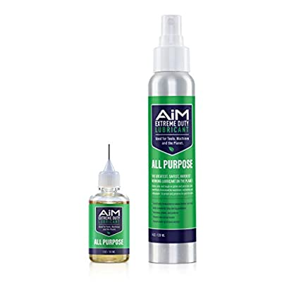 PlanetSafe AIM Hedge Trimmer & Chainsaw Lubricant Kit - Extreme Duty Lubricant - The World's Greatest, Safest, Hardest-Working Lubricant - Non-Toxic, Odorless - Penetrates, Cleans, Protects