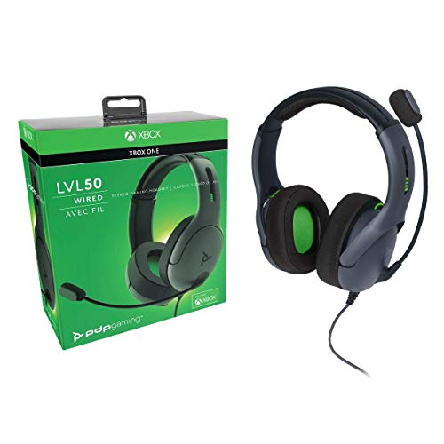 PDP Xbox One LVL50 Wired Stereo Gaming Headset, 048-124-NA-BK