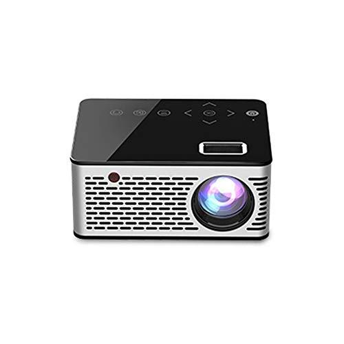 ZXGHS Mini Proiettore Portatile, Schermo 110 Pollici Supporto Proiettore LED Portatile 1080P, I Film D'ufficio per I Giochi di Intrattenimento Home Theater