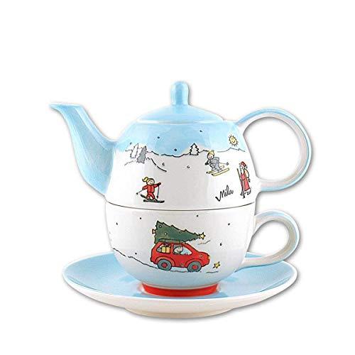 440s Mila Keramik Tee-Set: Tea for One, Driving Home for X-Mas | MI-99189 | 4045303991897