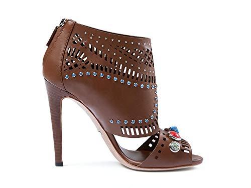 Luxury Fashion | Gucci Dames 371057A3N002548 Bruin Leer Enkellaarzen | Seizoen Outlet