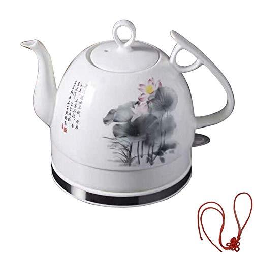 Bouilloires en céramique bouilloire électrique sans fil eau Teapot, Teapot-Retro 1.2L Jug rapide (Couleur: Gris) 8bayfa (Color : Gray)