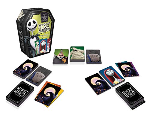 Wonder Forge Disney Tim Burton's Nightmare Before Christmas Merry Mayhem Card Game for Boys & Girls Age 6 & Up - A Fun & Frenzied Card Game