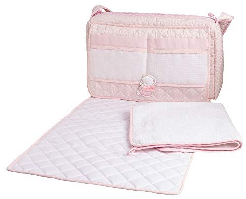 Filet - Borsa Nursery con Asciugamano per Fasciatoio - Rosa