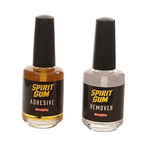 Kangaroo Spirit Gum 0.439 fl. Oz.(13ml) & Spirit Gum Remover 0.439 fl. Oz.(13ml) Combo Pack