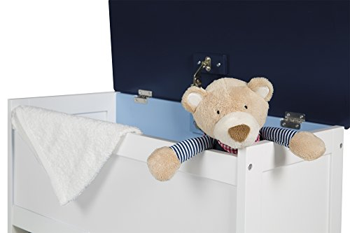 roba Spielzeug-Truhe 'Rennfahrer', Sitz-& Aufbewahrungs-Truhe fürs Kinderzimmer, Truhenbank Auto blau - 2