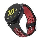 ISABAKE Correa Reloj de 20mm Compatible con Galaxy Watch 42mm/Garmin Vivomove/HR/Garmin Vivoactive 3/Galaxy Watch Active 2/Forenrunner 645 Correa Reloj de Silicona liberación rápida de Repuesto