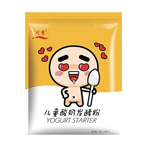 JumpXL 1 g * 10 Paquete de todas las culturas Ácido bebé natural yogurt bajo en 7 Starter probióticos Hacer postre de yogur en casa 1g-1L