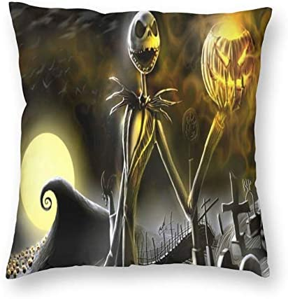 WINTERSUNNY Nightmare Before Christmas Pillow Case Pumpkin King Decoration Washable Cotton Pillow product image