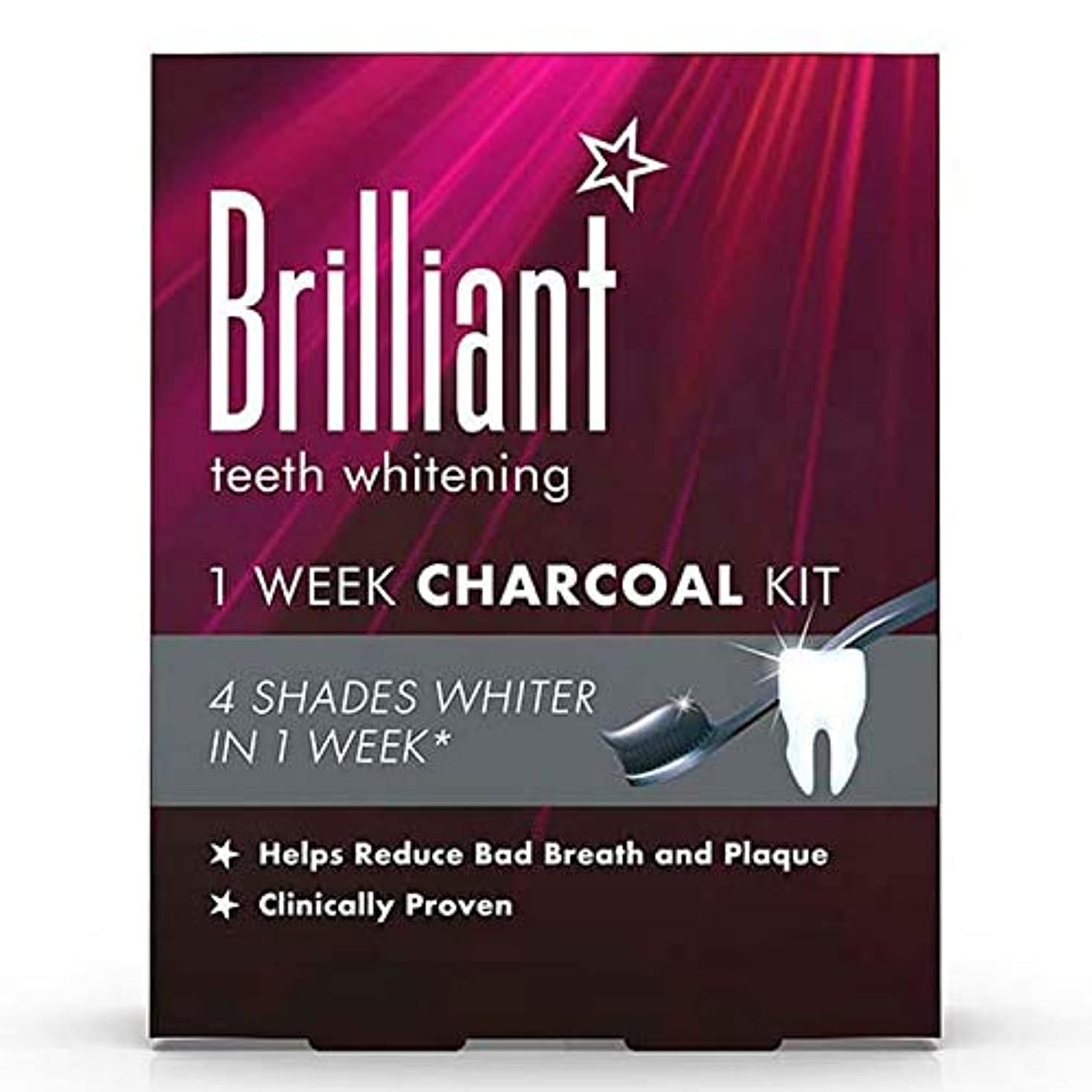 十年圧縮迫害する[Brilliant ] 華麗なホワイトニング1週間木炭キット - Brilliant Whitening 1 Week Charcoal Kit [並行輸入品]