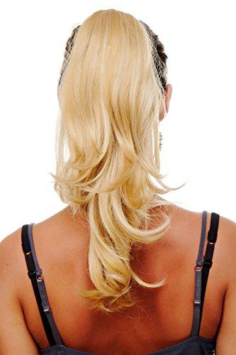 WIG ME UP ® - T400-611B Haarteil/Pferdeschwanz mit Klammer gemischt gesträhnt blond ca. 40 cm