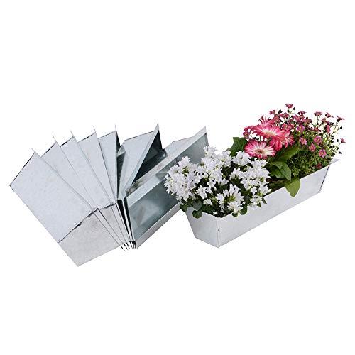 Nature by Kolibri Blumenkasten Set Balkonkasten Einsatz passend für Europaletten für Blumen, Kräuter und Früchte 8 Stück 38cm