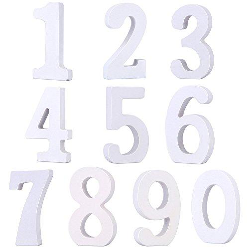 Vintage Holz Nummer Zahlen 0-9 DIY Malen Dekorationen für Hochzeit Geburtstag Feier Deko