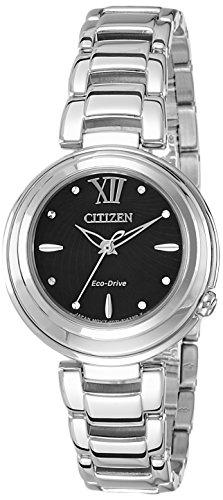 Citizen Damen-Armbanduhr Analog Quarz Edelstahl EM0331-52E